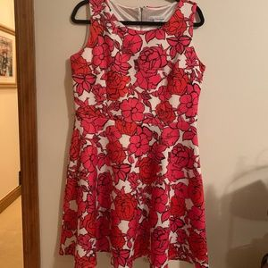New York & Company Fit and Flare Floral Dress